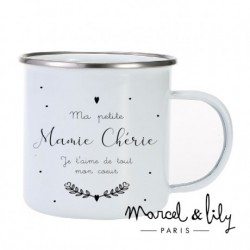 Tasse émaillée Mamie chérie