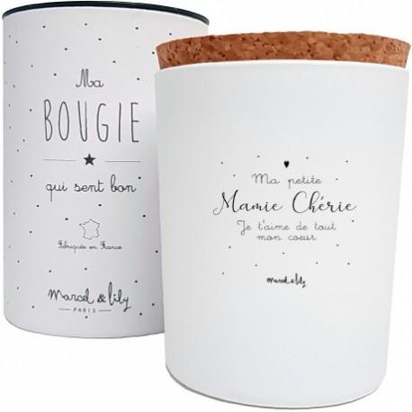 Bougie Mamie chérie - Fleur de coton
