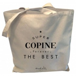Tote-bag Super copine forever