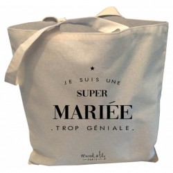 Tote-bag Super mariée