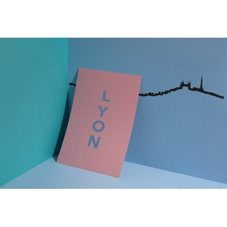 Silhouette de Lyon - noir