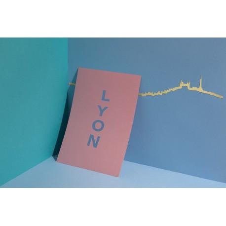 Silhouette de Lyon - doré