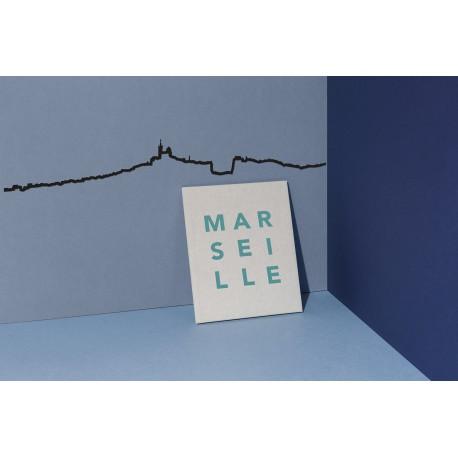 Silhouette de Marseille - noir
