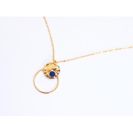 Collier Mini Pepi Ring - Indigo