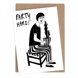Carte double Party hard with Plant man