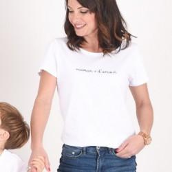 T-shirt Maman d'amour Marinière - Taille M
