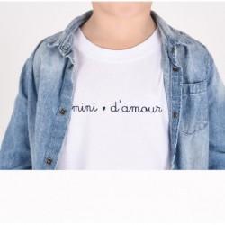 T-Shirt Mini d'amour - 5/6 ans