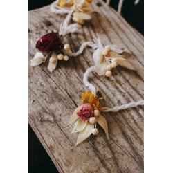 Trio de guirlandes de fleurs séchées