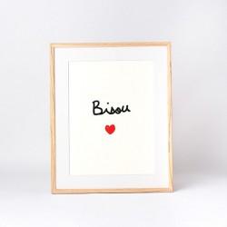 Affiche Bisou