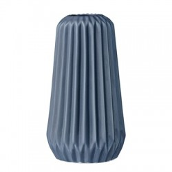 Vase fluted midnight blue porcelain