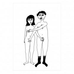 Affiche A4 Couple nu