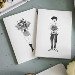 Duo de carnets Flower girl et Flower man