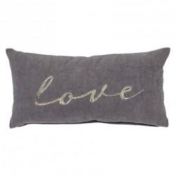 Coussin Love gris
