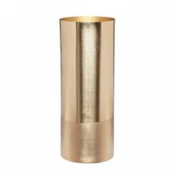 Vase en métal tout doré