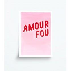 Affiche A5 Amour fou