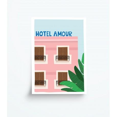 Affiche A4 Hôtel Amour