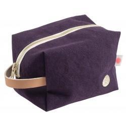 Pochette zippée cube - Mûre