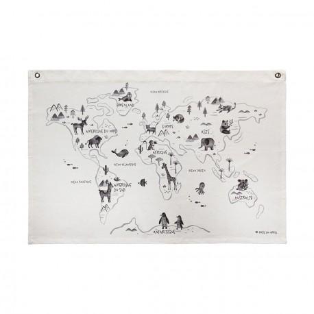 Carte du monde sur canvas