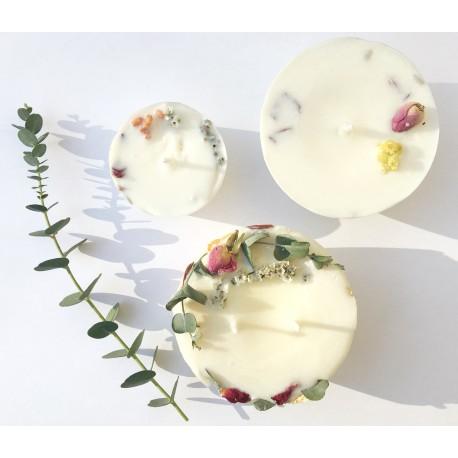 Bougie fleurie éco-friendly