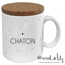 Mug avec couvercle Chaton