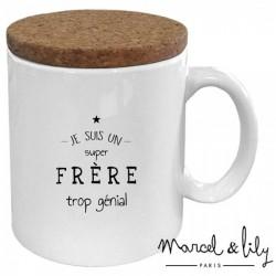 Mug avec couvercle Frère trop génial