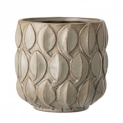 Pot de fleurs gros relief beige - 14cm