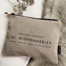Trousse mélange lin/coton Collectionneuse de mignonneries