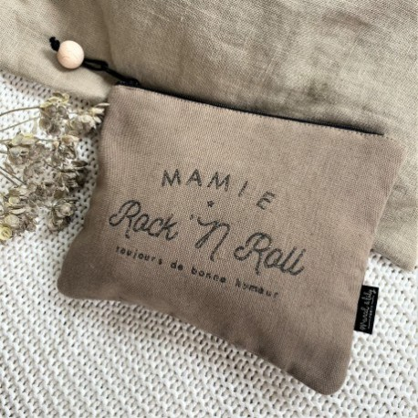 Trousse mélange lin/coton Mamie Rock and roll