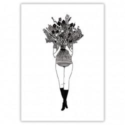 Affiche A4 Flower girl
