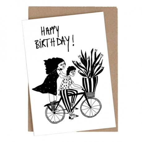Carte double Happy birthday Paulien et Stijn