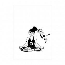 Carte Fille zen