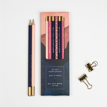 Boîte de 6 crayons de papier - Rainbow