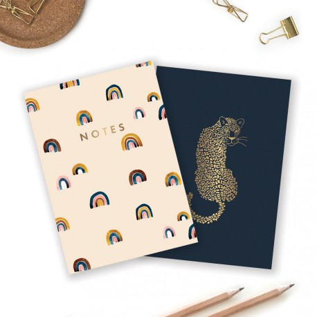 Duo de carnets Leopard & Rainbows