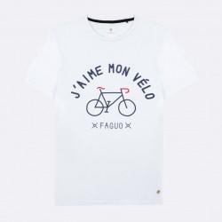 T-shirt J'aime mon vélo blanc - Taille L