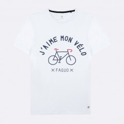 T-shirt J'aime mon vélo blanc - Taille XL