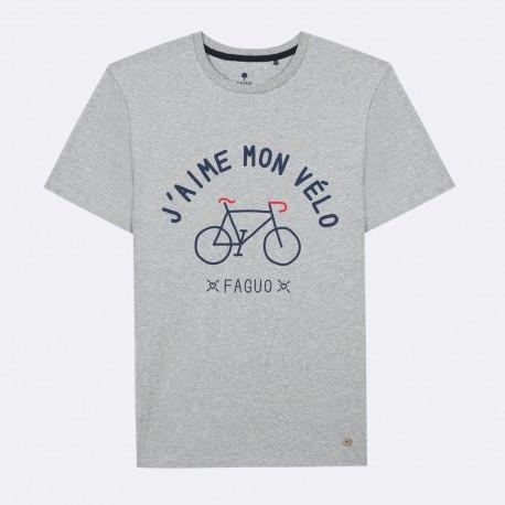 T-shirt J'aime mon vélo gris - Taille XL