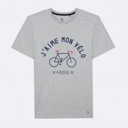 T-shirt J'aime mon vélo gris - Taille L