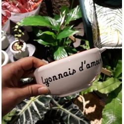 Bol breton Lyonnais d'amour / liseré rouge