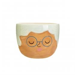 Petit pot de fleurs Rose à lunette