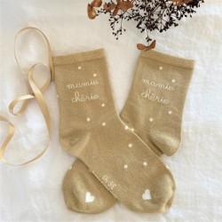 Chaussettes Mamie dorées