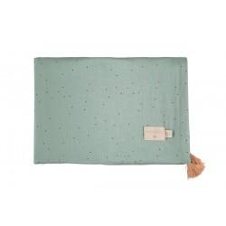 Couverture legère - Toffe sweet dots eden green
