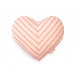 Coussin coeur Candy stripes