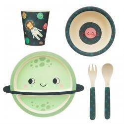 Set de vaisselle bambou Espace