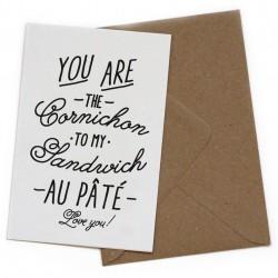 """Carte postale """"You are the cornichon..."""""""