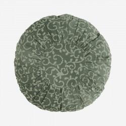 Coussin rond 45cm - imprimés Dusty green