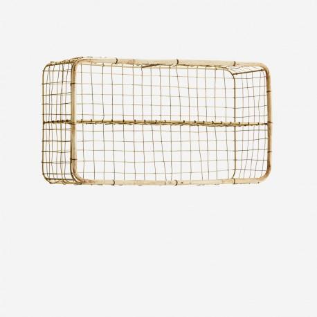 Etagère laiton et bambou horizontale