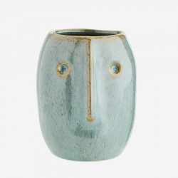 Petit vase visage vert