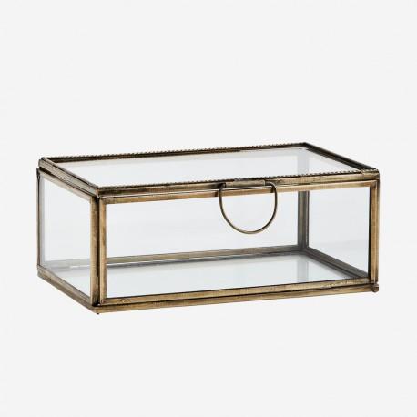 Boîte en verre et métal finition perlée - Grand format
