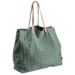 Sac de shopping Oscar sauge