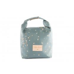 Eco lunch bag gold confettis/magic green
